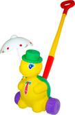 Каталка Черепашка Тортила с ручкой, фиолетовые колеса, Полесье, фиолетовые колеса от Полесье