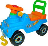 Каталка-автомобиль Джип 4х4 (звук), голубой, Полесье, голубой от Полесье