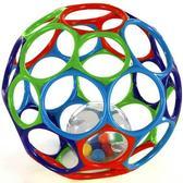 Мяч OBall с погремушкой в середине, голубой зеленый синий красный от Rhino