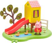 Игровая площадка Пеппы (домик с горкой, фигурка Пеппы), Peppa Pig