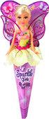 Волшебная фея Бриана в желтом платье с роз. крыльями (25 см), Sparkle girlz, Funville, блондинка в желтом от Sparklegirlz
