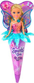 Волшебная фея Анна в розово-бирюзовом платье с голубыми крыльями (25 см), Sparkle girlz, Funville, блондинка в розово-бирюзовом от Sparklegirlz