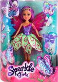 Волшебная фея-бабочка Джессика в фиолетово-зеленом платье (25 см), Sparkle girlz, Funville, фиолетовые волосы от Sparklegirlz