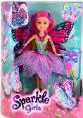 Волшебная фея-бабочка Тейлор в сиреневом платье (25 см), Sparkle girlz, Funville, розовые волосы от Sparklegirlz