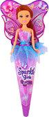 Волшебная фея Николь в сиренево-голубом платье с роз. крыльями (25 см), Sparkle girlz, Funville, шатенка в сиренево-голубом от Sparklegirlz