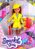 Кукла-модница Ванесса в осеннем желтом плаще (25 см), Sparkle girlz, Funville, желтый от Sparklegirlz