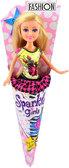 Кукла-модница Лесли в мини-платье (25 см), Sparkle girlz, Funville, блондинка в желтом от Sparklegirlz