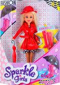 Кукла-модница Марисса в осеннем красном плаще (25 см), Sparkle girlz, Funville, красный от Sparklegirlz