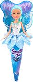 Ледяная фея Мия в бело-голубом платье (25 см), Sparkle girlz, Funville, бело-голубое платье от Sparklegirlz