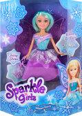 Ледяная фея Саманта в фиолетово-бирюзовом платье с аксесс. (25 см), Sparkle girlz, Funville, фиолетово-бирюзовое платье от Sparklegirlz