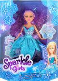 Ледяная фея Хлоя в голубом платье с аксесс. (25 см), Sparkle girlz, Funville, голубое платье от Sparklegirlz