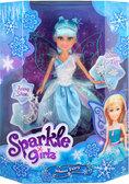 Ледяная фея Эвелин в бело-голубом платье с аксесс. (25 см), Sparkle girlz, Funville, бело-голубое платье от Sparklegirlz