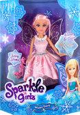 Ледяная фея Эшли в розовом платье с аксесс. (25 см), Sparkle girlz, Funville, розовое платье от Sparklegirlz