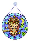 Витражное стекло Сова