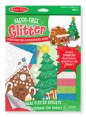 Объемные блестящие наклейки Рождественская елка и пряничный домик