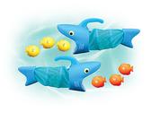 Водная игра Акула поймай рыбку
