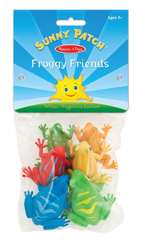 Набор игрушечных лягушек