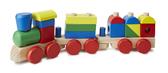 Поезд из кубиков
