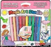 Волшебный набор для девочек Раскраска, наклейка, трафарет