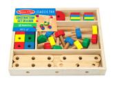 Деревянный строительный конструктор в коробке