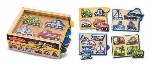 Машинки-набор из 4 пазлов