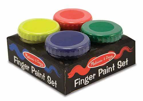 Пальчиковые краски, 4 шт.