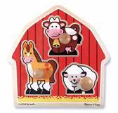 Формовой пазл Животные с фермы от Melissa & Doug