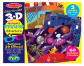 Многоразовые 3-D наклейки с очками Приключения
