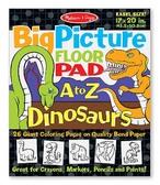 Гигантская раскраска с динозаврами Английский алфавит