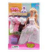 Кукла с нарядами и аксессуарами от DEFA