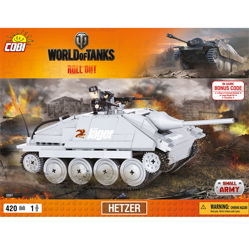 Конструктор COBI World Of Tanks Хетцер, 420 деталей