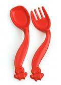 Набор фигурных столовых приборов (ложка, вилка), пластиковые, красные, Canpol babies от Canpol babies