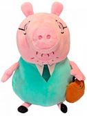 Мягкая игрушка Папа Свин с портфелем (30 см), Peppa