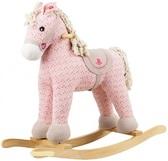 Игрушечная пони - качалка с музыкой,розовый