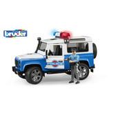 Джип Полиция Land Rover Defender, свет и звук, + фигурка полицейского, М1:16