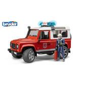 Джип Пожарный Land Rover Defender, свет и звук, + фигурка пожарника, М1:16