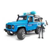 Джип Полиция Land Rover Defender синий, свет и звук, + фигурка полицейского, М1:16