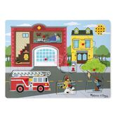 Звуковой пазл Пожарная часть от Melissa & Doug