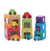 Набор блоков-кубов Автомобили и гаражи)