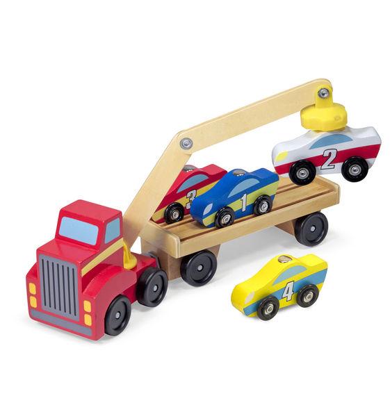 Магнитный деревянный автопогрузчик