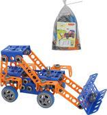 Конструктор Изобретатель - Трактор-погрузчик №1 (141 элемент) (в пакете)