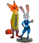 Набор фигурок Ник Уальд и Джуди Хоппс, Disney Zootropolis, Bullyland