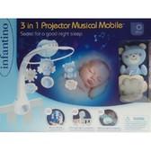 INFANTINO Мобиль музыкальный с проектором 3 в 1, голубой