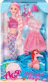 Тайна русалки, набор с куклой 28 см, блондинка (розовый наряд), Ася от Ася