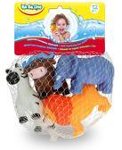 Животные-пищалки для ванной Зоопарк (4 шт.), BeBeLino от BeBeLino (Бебелино)