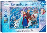Пазл XXL Сверкающий снег, 100 эл., Disney Frozen, Ravensburger