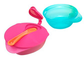 Тарелочка глубокая с крышкой и ложечкой (розовый, голубой), 2 штуки, Tommee Tippee от Tommee Tippee(Томми Типпи)