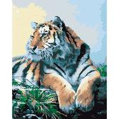Рисование по номерам. Гордый тигр, серия Животные и птицы, 40 х 50 см, Идейка
