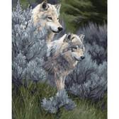 Величественные волки, 40х50 см