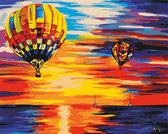 Воздушные шары на закате худ Афремов Леонид 40 х 50 см от Идейка